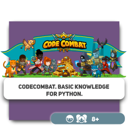 CodeCombat. Basic knowledge for Python. - Programming for children in Orlando
