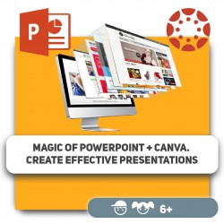 Magic of POWERPOINT + Canva. Create effective presentations - Programming for children in Orlando