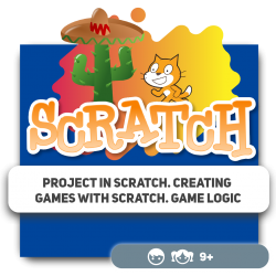 Project in Scratch. Creating games with Scratch. Game logic - Programming for children in Orlando
