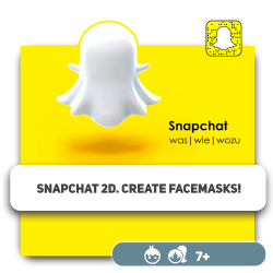 Snapchat 2D. Create facemasks! - Programming for children in Orlando