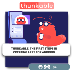 Thunkable. The first steps in creating apps for Android. - Programming for children in Orlando