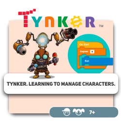 Tynker. Learning to manage characters.  - Programming for children in Orlando